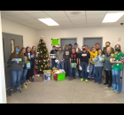 Wittenberg - Birnamwood FFA members show off some of the items donated Dec. 2 for their bulk giving tree. They collected 170 items, exceeding their goal of 100. They plan to do the project again next year.  Contributed