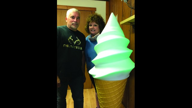 Rick and Karla Verkuilen opened Britt's Candy and Ice Cream Shop at 502 S. Webb Street in Wittenberg on Aug. 1 featuring Cedar Crest ice cream.  Miriam Nelson | NEW Media