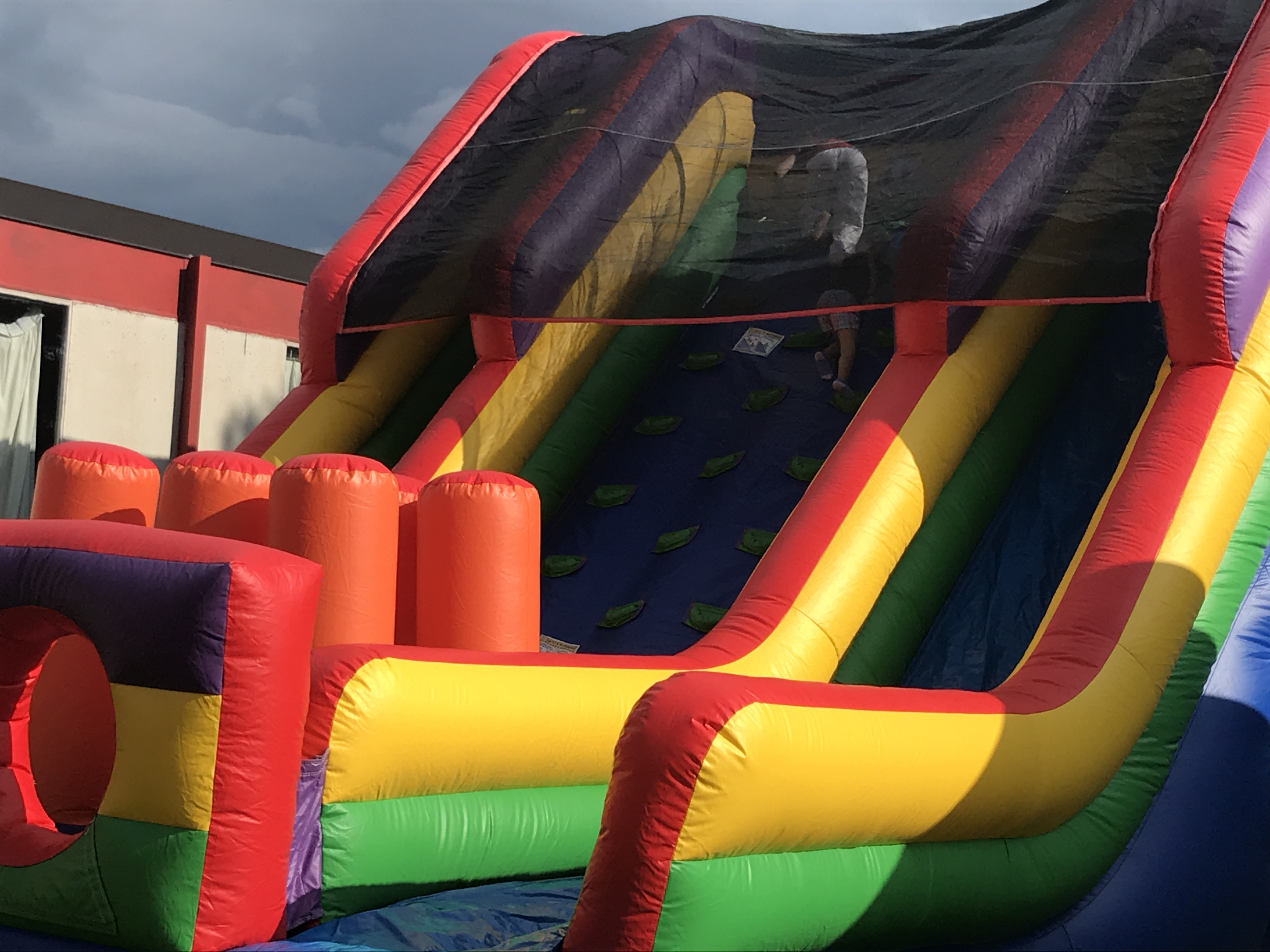 Bounce houses were part of the fun.