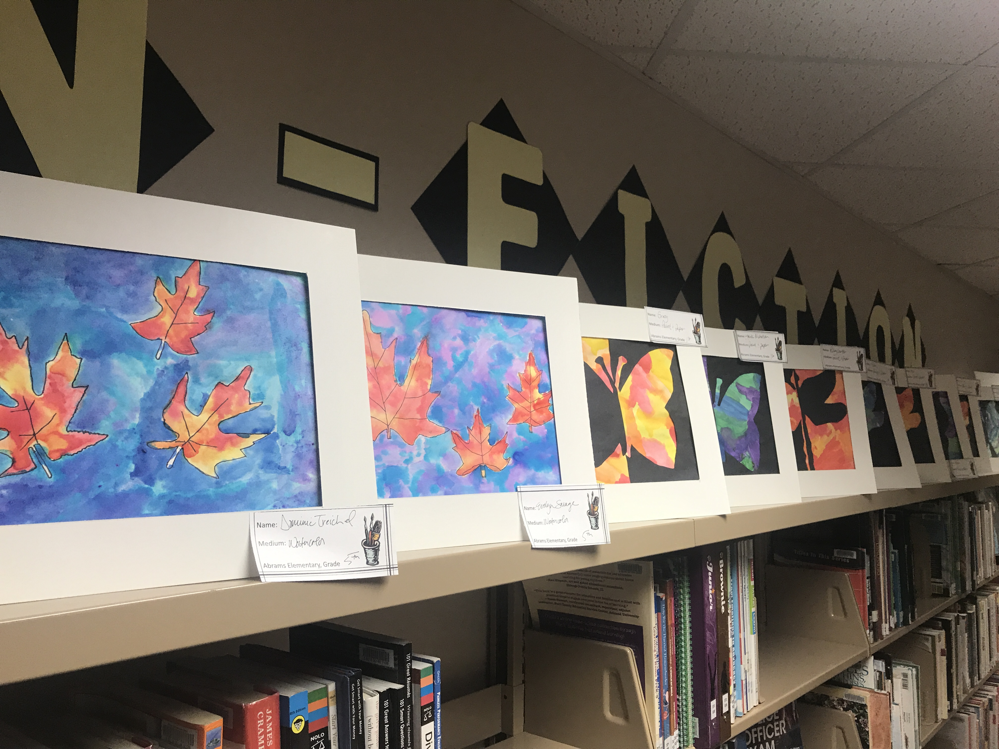 Artwork from Oconto Falls School District students of all ages is on display all month at the Oconto Falls Community Library. Warren Bluhm | NEW Media