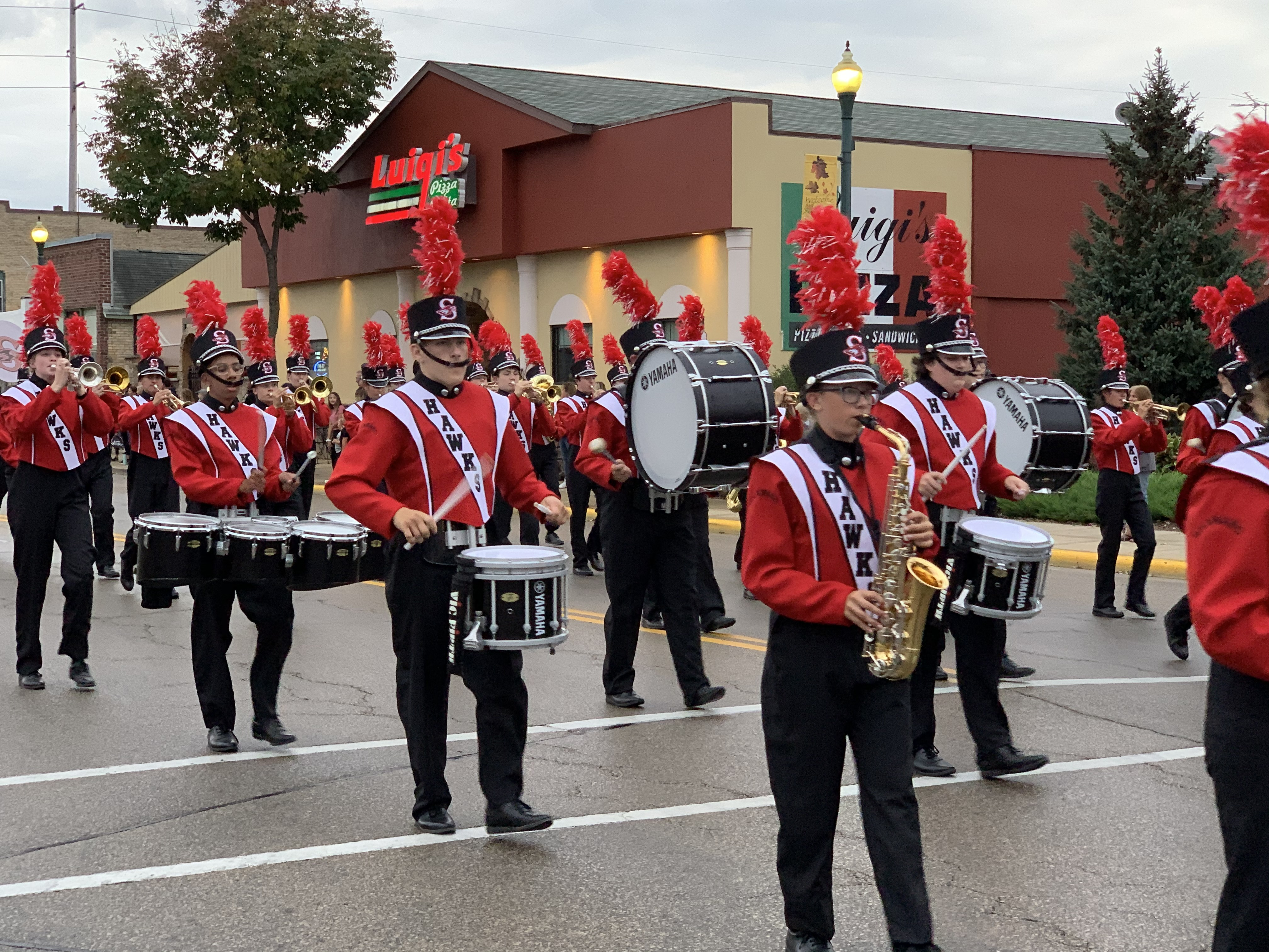 Members of the Shawano Community High School band provide visitors with music as they march down Main Street in Shawano on Sept. 24.Luke Reimer   NEW Media