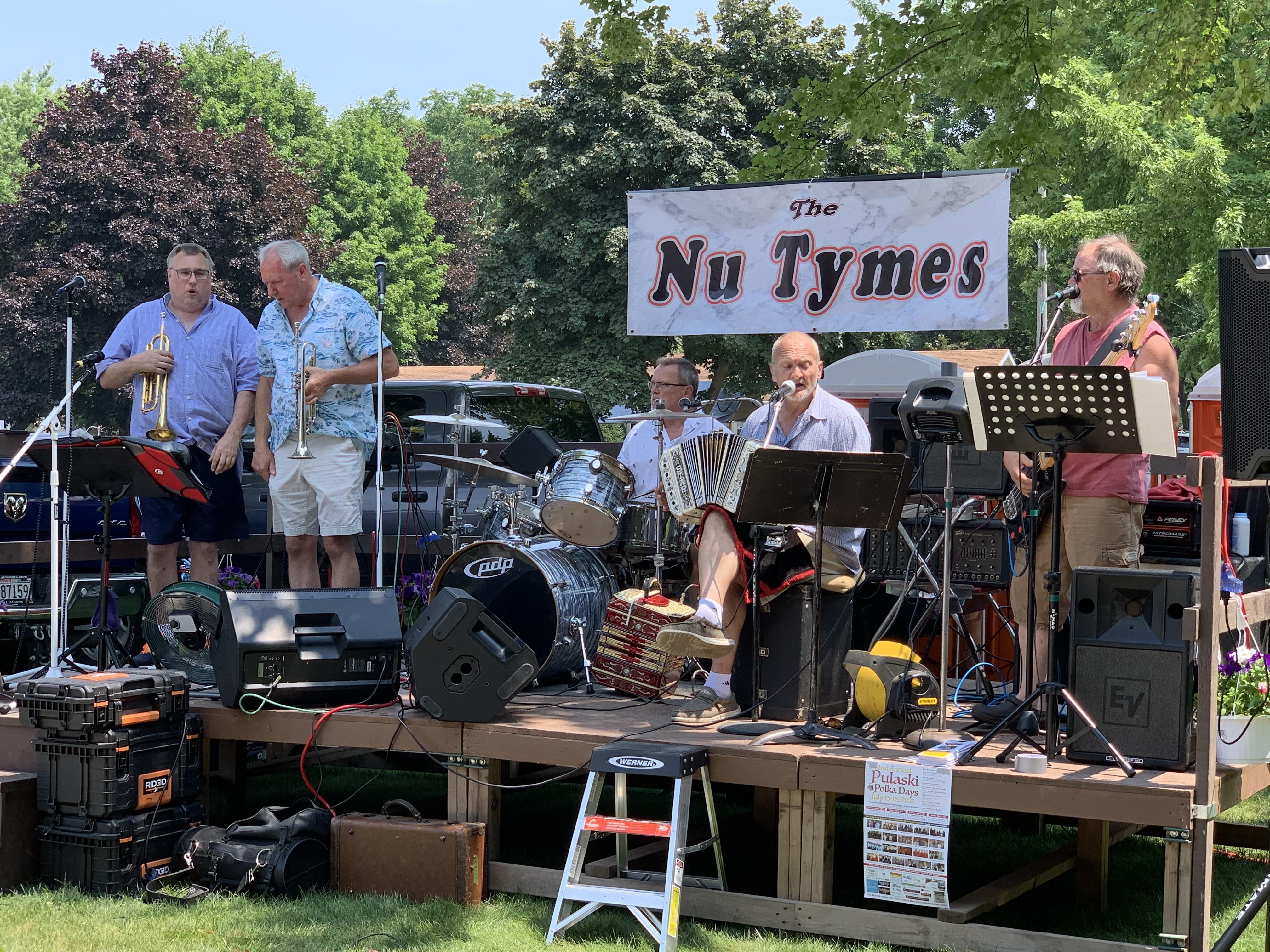 Nu Tymes provides visitors with polka music at Village Park in Bonduel on July 4.Luke Reimer   NEW Media