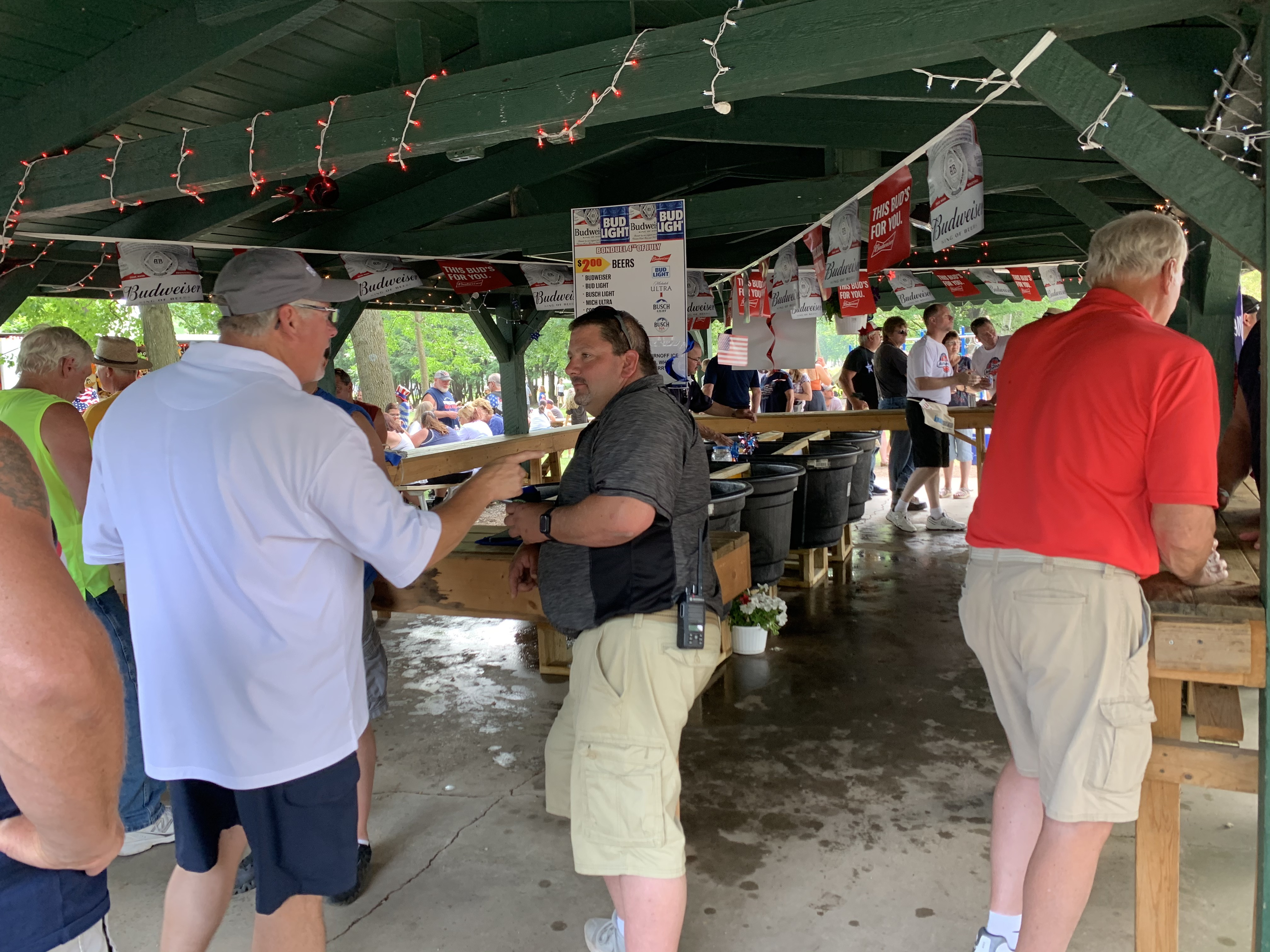 One of the most popular attractions at Village Park in Bonduel was the beer tent. Many visitors caught up with each other over a cold beverage July 4.Luke Reimer   NEW Media