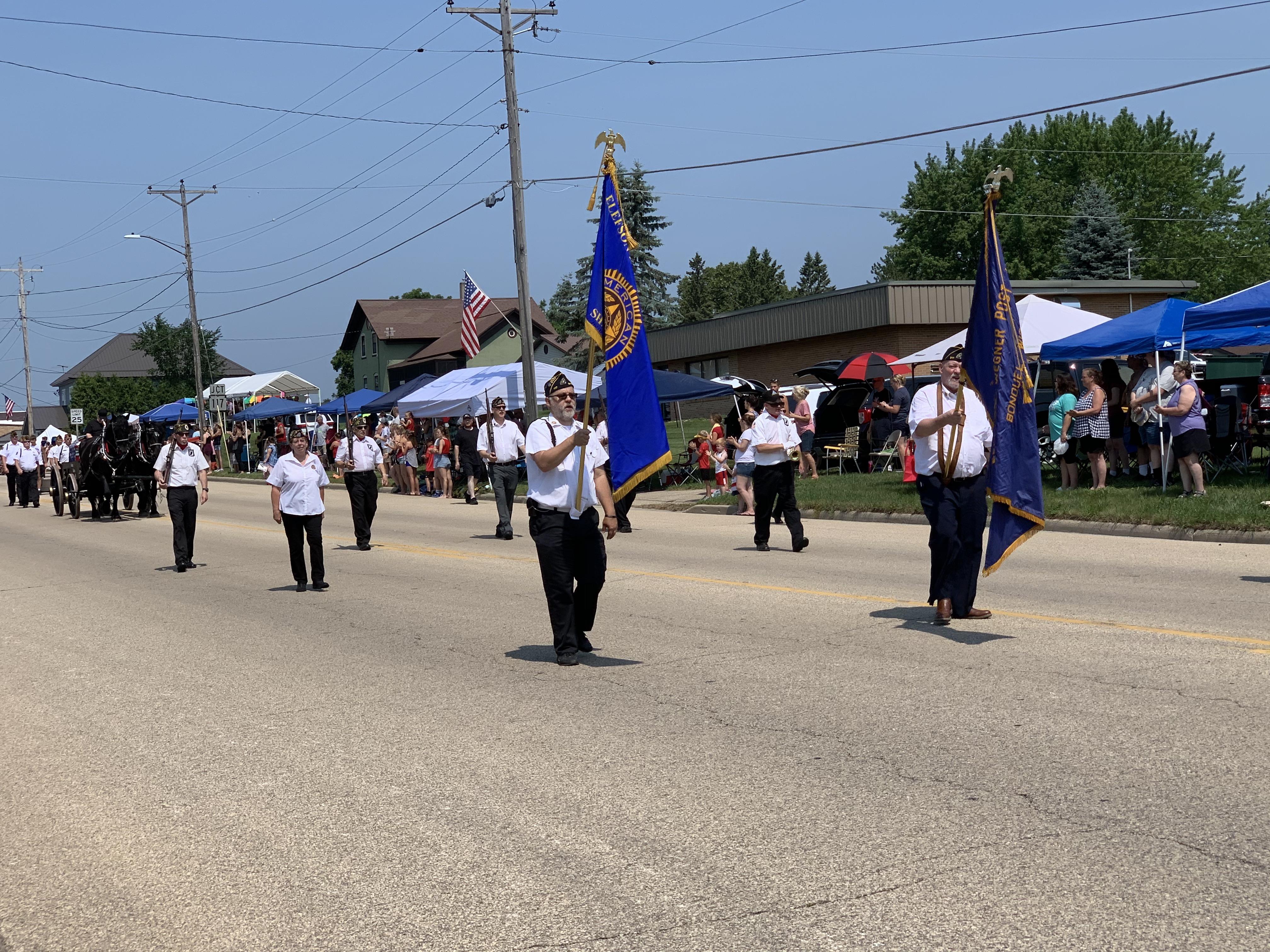 American Legion members lead the parade along Green Bay Street in Bonduel on July 4.Luke Reimer   NEW Media