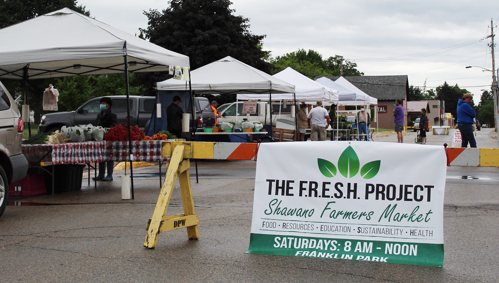 The diehards were lured out in the rains of the morning of June 20 for the first Shawano Farmers Market of the season at Franklin Park. The weekend also marked the first market under the management of The FRESH Project. The local food and nutrition advocacy group assumed the leadership from a volunteer board over the winter.David Wilhelms