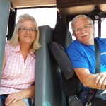 Gene Lettau completes his training for driving a school bus for Wittenberg-Birnamwood School District. His wife, Terry, has been driving school bus for WBSD for 40 years.