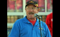 Dale Hodkiewicz, president of the Shawano County Agricultural Society, speaks at the 2019 opening ceremony for the Shawano County Fair. The 2020 fair will still be holding the opening ceremony and most other events as normal.  File | NEW Media