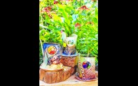 """Retired Wittenberg-Birnamwood art teacher, Carol Strand will have stained glass and ceramics in the """"Kaleidoscope of Colors"""" art show at the WOWSPACE in Wittenberg, Sept. 19-Oct. 4. Contributed"""