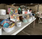 Baskets containing various prizes were up for raffle at the Cecil Fireman Picnic on Aug. 21.  Luke Reimer | NEW Media