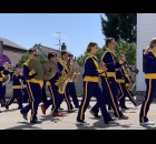 The Tigerton High School band kicks off the annual Lumberjack Days parade as they provide music and march along Cedar Street on Aug. 29.  Luke Reimer | NEW Media
