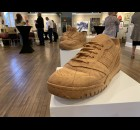 Artist Michael Koeppel's carved wooden shoes were on display at the WOWSPACE during the annual Wine, Beer and Cheese Gala, held Sept. 17 in Wittenberg.   Luke Reimer | NEW Media