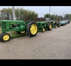 Tractors and vintage cars line up on County Road T in Lunds in preparation for the Bohemian Fest parade Oct. 9.  Luke Reimer | NEW Media