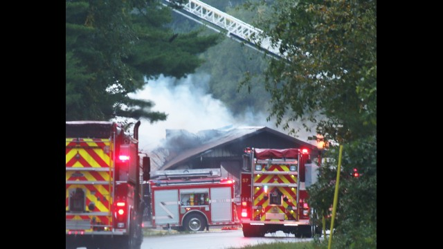 Fire departments from throughout the area responded to a fire at the Deer Camp and Pavilion, N4096 County Road K in the town of Waukechon on Friday morning. The bar/pavilion had been known as Pleshek's Pavilion. This story will be updated as information becomes available. Carol Ryczek | NEW Media