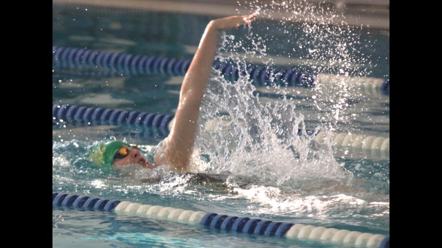Wittenberg-Birnamwood's Lauren Bahr swims the 100-yard backstroke in a 2019 Bay Conference dual against Clintonville in Wittenberg.  File | NEW Media