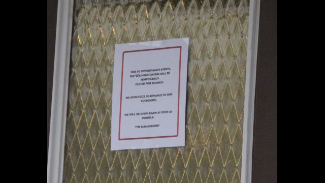 "A notice posted outside the Washington Inn Supper Club in Cecil cites ""unfortunate events"" for the restaurant's temporary closure. A state inspection Jan. 3 found violations that must be corrected before the restaurant can reopen.